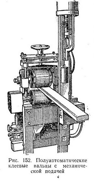 клеевые вальцы с ручной или механизированной подачей