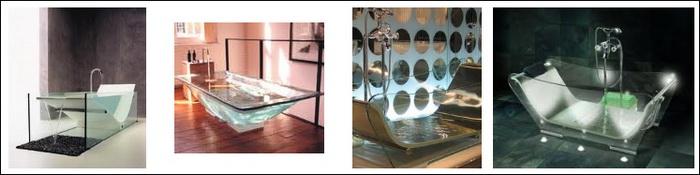 стеклянные ванны