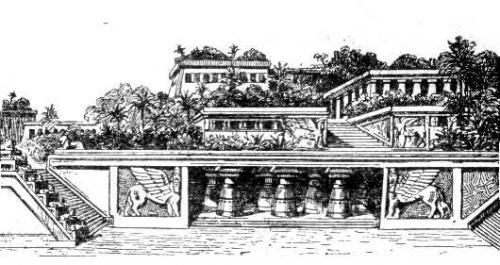 Висячие сады Вавилона, интерпретация 20-го века.